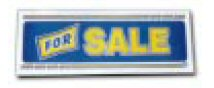Slogan Display Board - For Sale - Blue & Yellow